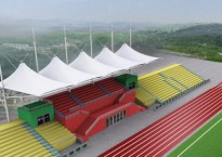 【邢台张拉膜结构】学校体育看台应选什么建筑形式?