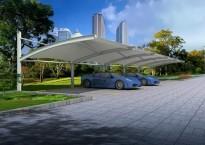 膜结构停车棚厂家讲解膜结构 停车棚雨天施工需要考虑哪些因素?