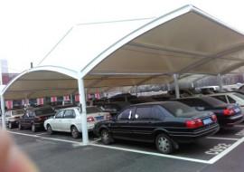膜结构停车棚定做,膜结构停车棚施工图片大全