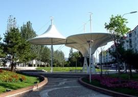 张家口清河公园景观膜结构