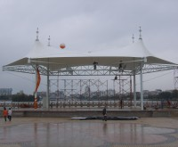 广东省雷州市政广场舞台张拉膜结构