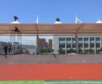 山西膜结构–灵石学校看台膜结构