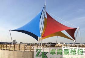 河北黄骅广场景观膜结构