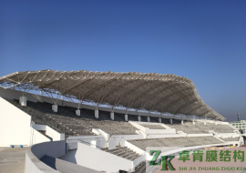 膜结构体育场看台|膜结构建筑