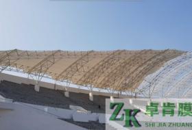 体育看台膜结构—山西潞城体育场膜结构工程
