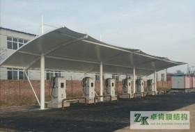 天津市静海区张拉膜结构遮阳棚