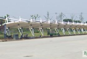 膜结构车棚—天津市静海区膜结构车棚竣工。