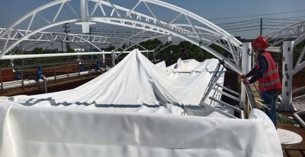 污水池除臭—污水池加盖处理工程即将竣工