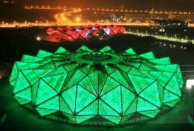 膜结构建筑工程与灯光秀