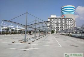 陕西榆林横山煤电膜结构停车棚施工中