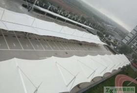PTFE膜结构车棚–陕西榆林横山煤电膜结构停车棚竣工验收合格