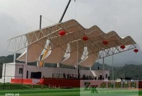 藁城通安学校看台膜结构竣工