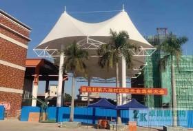 广东省东莞田坑村篮球场膜结构顶棚遮阳膜