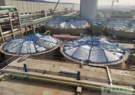 南通污水池加盖反吊膜结构工程三期竣工