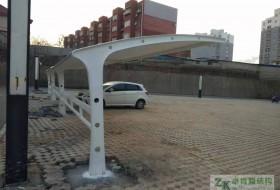 唐山市古冶区小区汽车停车棚(膜结构停车棚)