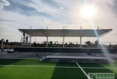 河北省蔚县马宝玉学校体育看台膜结构工程