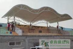 石家庄楼底中学膜结构体育看台竣工
