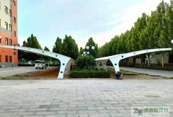 石家庄理想汽车零配件有限公司膜结构停车棚竣工