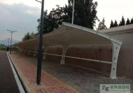 石家庄双凤公司厂区电动车雨棚膜结构竣工