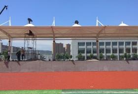 膜结构体育看台–灵石学校膜结构体育看台