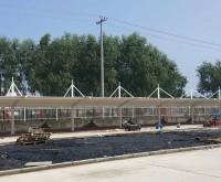 膜结构汽车棚,河北槐茂食品企业膜结构汽车棚