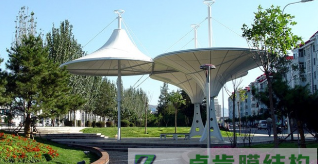 膜结构景观棚-张家口清河公园膜结构景观棚