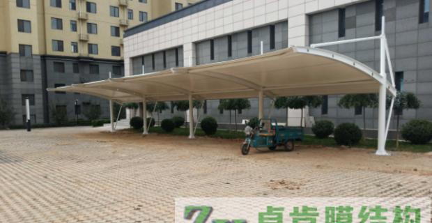 膜结构停车棚汽车棚-唐山和逸居小区膜结构停车棚