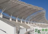 膜结构遮阳棚-山西潞城中学体育场看台膜结构遮阳棚