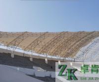 体育看台膜结构—山西潞城体育场钱柜娱乐官网