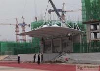 张家口尚义学校看台膜结构主席台竣工