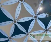 广东增城公园景观膜结构竣工